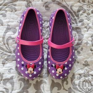 Crocs Purple Minnie Mouse Size 12